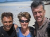 Mark, Gaye, Ed. Happy faces at Chilli Beach. Iron Range NP