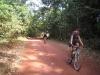 Gaye and Mark heading into the Lockerbie Rainforest on the last few kilometres to Pajinka
