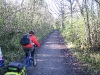 Gaye on cycle path near Dover