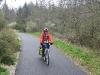 Gaye on bikepath near Besancon, France