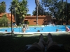 The pool at our camp near Seville. A real lifesaver