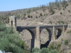 Roman bridge still carrying traffic after 2000 years. Alacantara, Spain