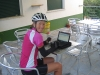 Quick email check pre departure from Fundao, Portugal