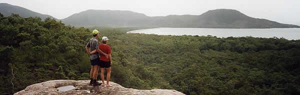 Hiking on Hinchinbrook Island