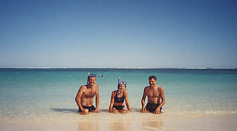 Great snorkeling on Ningaloo Reef