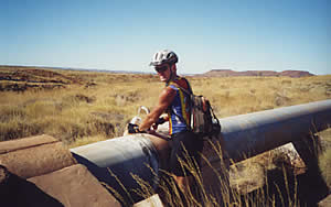 Clear, cool water on tap! Iron Ore Rd 15/6/01