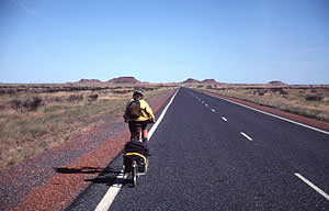 Hwy1 heading South to Pt Hedland. 8/6/01