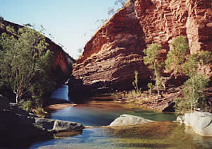The beautiful Hammersley Gorge