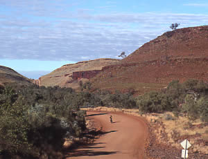 Travelling in the Hammersley Ranges. 19/6/01