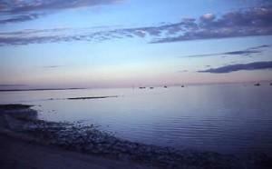 Peaceful twilight at Denham
