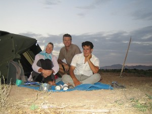 Vege patch camp site with Mansoor