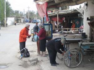 Gaye buying bread