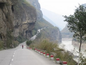 Following the myriad of river gorges in mountainous country a few hundred ks south of Chengdu in Southern China