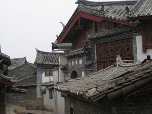 Classic Chinese houses in Lijiang, Southern China