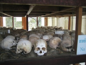 Horrific reminder at the Killing Fields