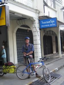 Leavingour hotel at Phang Nga