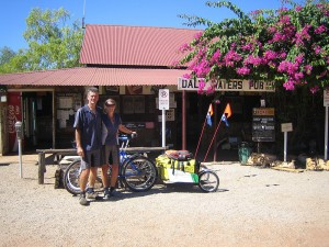 Ed and Gaye at Daly Waters Pub. Northern Territory. Australia