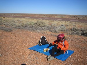 Lunch somewhere south of Coober Pedy