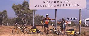 Ed and Gaye at the NT-WA border