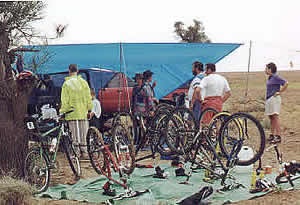 Bicycle workshop. Some groups were well organised.