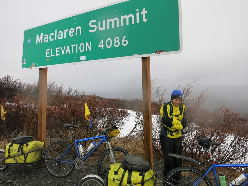 It was a long slog up to McLaren Summit on a road surface best described as 'stony sludge'.