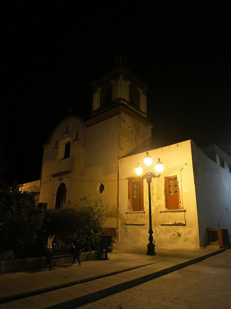Atmospheric old church in Pinos, Zacatecas province