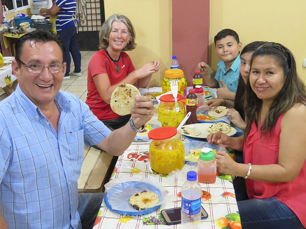 Pupusa time with Ricardo and family in Sensuntepeque