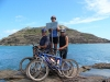 Ed, Gaye and Mark. Happy travellers at Cape York. Now we just have to turn around and ride back!!!