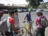 Young Maroccan roadies check out our bikes