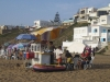 Never far from services. Beach at Asilah, Morocco