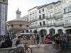 Street entertaeinment in the main square. Evora, Spain