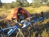 Peaceful bush camp near Spain-Portugal border