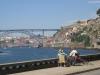 Cycling into Porto along the Douro River. Portugal
