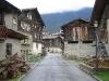 Old style houses near Brig, Switzerland