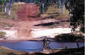 A refreshing stop on the Gibb River Road, Kimberley. WA.