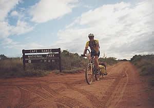 Riding the often sandy tracks of Cape Range N