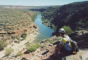 Walking around Kalbarri Gorge