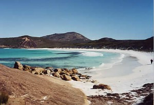 Lovely white sands. Cape le Grand NP