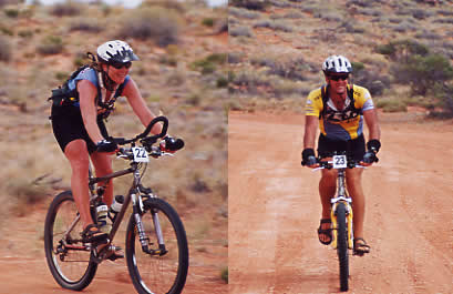Ed and Gaye in the Simpson Desert Bike Challenge