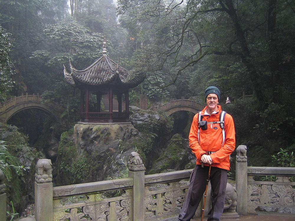 Hiking up Emi Shan