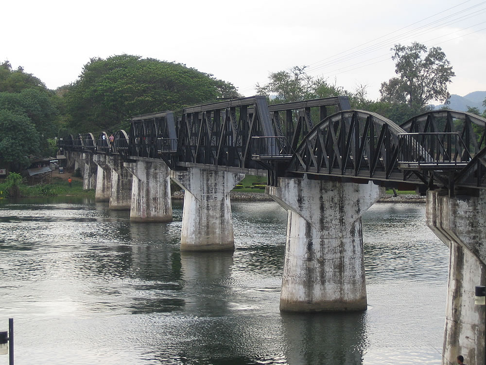 Bridge over the river Kwai. Kanchanaburi