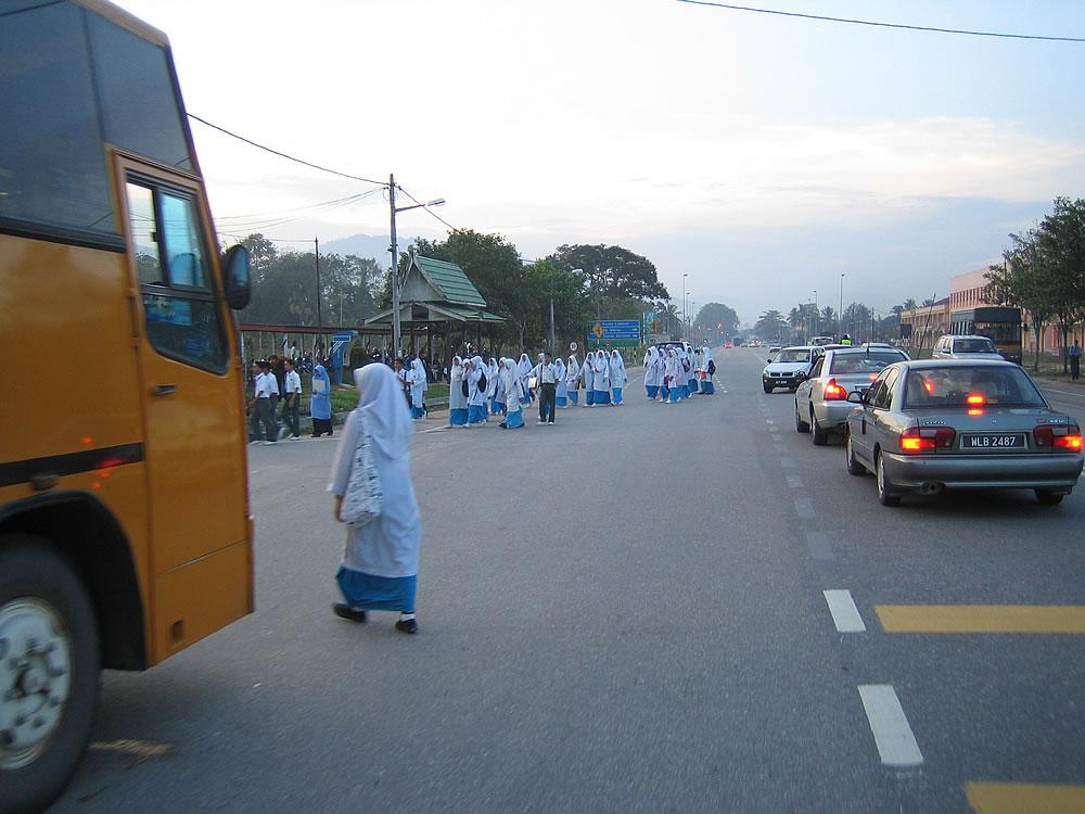 High school students. Tanjong Malim just north of Kuala Lumpur