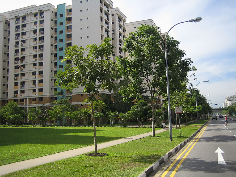 Singapore	suburbia. Leafy, neat and surprisingly spacious.