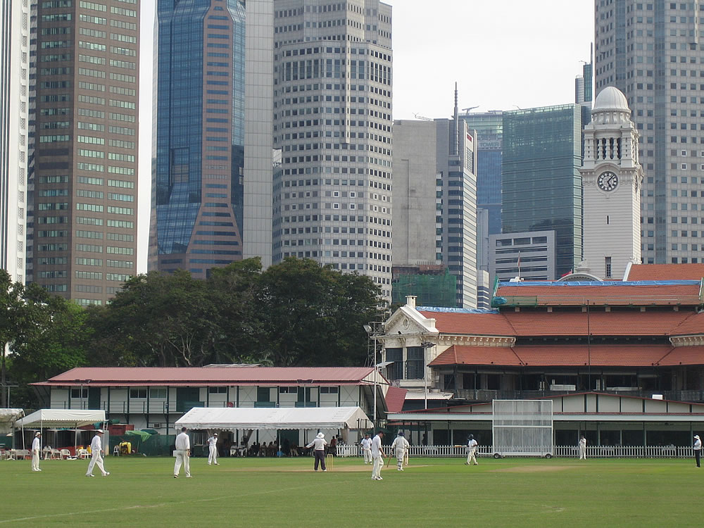 Cricket...a colonial hangover underneath modern skyscrapers