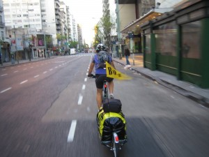 Heading off through the streets of Buenos Aires