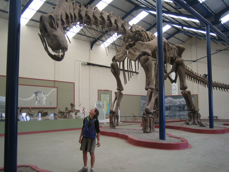 The Dinosaur Museum at Plaza Huincal 100k east of Neuquen