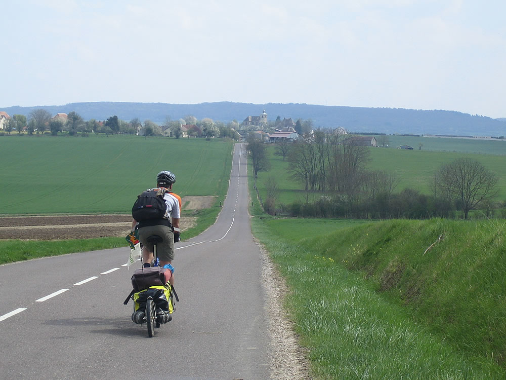 The quiet smooth roads of rural France