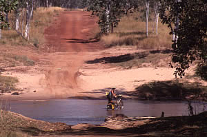 A refreshing stop on the Gibb River Road, Kimberley. 21/5/01
