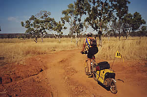 Heading for a campsite on the Barnett River, Kimberley. 20/5/01