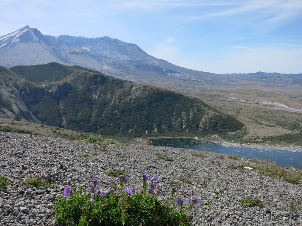 … Mt. St. Helens - minus most of its northern side